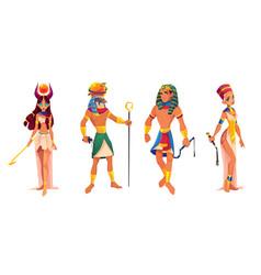 Egypt gods hathor ra rulers pharaoh nefertiti vector