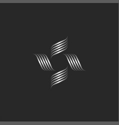 flower logo monogram boutique or spa feminine vector image