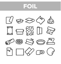 Foil list for cooking collection icons set vector