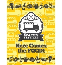 Food truck festival poster vector