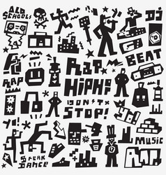 Graffiti rap doodles vector