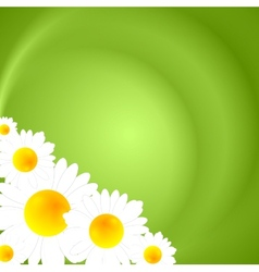 Green summer nature background vector