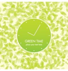 Green time card vector