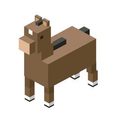 Horse emodular farm animal plastic lego toy blocks vector