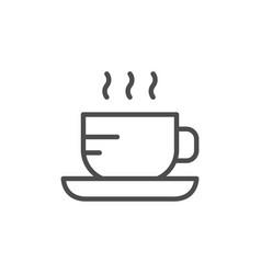 hot drink line icon vector image