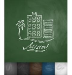 house Miami icon Hand drawn vector image