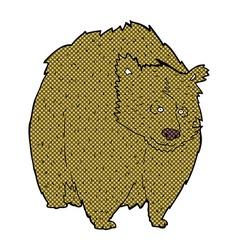 Huge bear comic cartoon vector