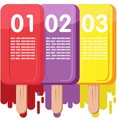 Ice Cream Color Info Graphic vector image