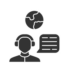 Immigration consultant glyph icon online support vector