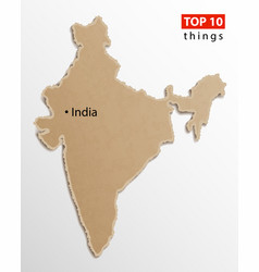 india map on craft paper texture template for vector image