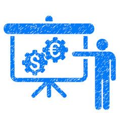 International industry presentation grunge icon vector