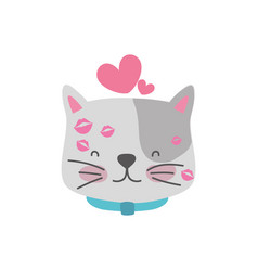 Isolated cat design vector