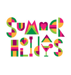 Lettering title summer holidays vector