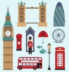 LondonUnited Kingdom Flat Icons vector image