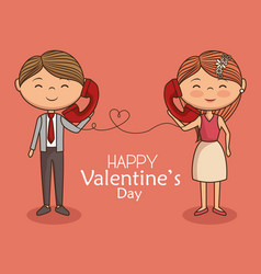 lovely couple valentines day vector image
