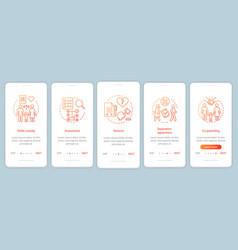 Mediation onboarding mobile app page screen vector