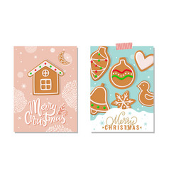merry christmas happy holidays greeting poster vector image