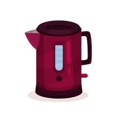 metal tea kettle with small spout and handle home vector image