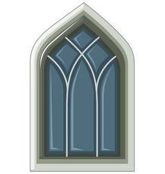 old fashioned style of window on white vector image