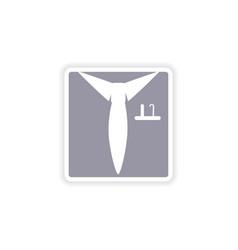Paper sticker on white background shirt tie vector