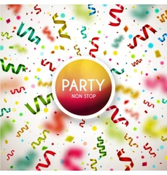 Party Non Stop vector image