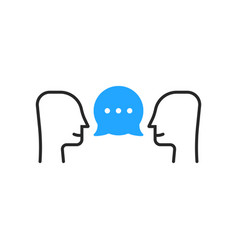 people conversation like small talk vector image