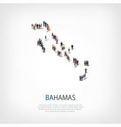 People map country Bahamas vector