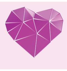 purple bright low poly heart vector image