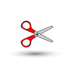 red scissors isolated on white background vector image