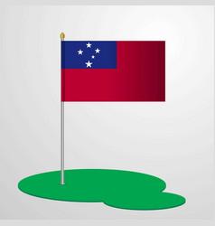 Samoa flag pole vector