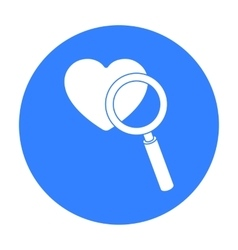 Searching a love icon in black style isolated on vector