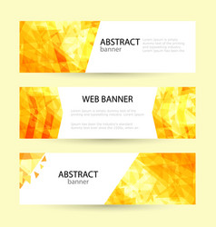 set horizontal summer web banner templates bright vector image