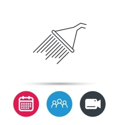 Shower icon Washing equipment sign vector image