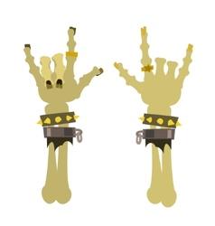 Sign horns heavy metal symbol vector