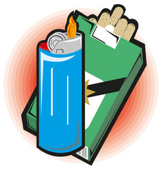 sketch cartoon matches matchboxes and vector image