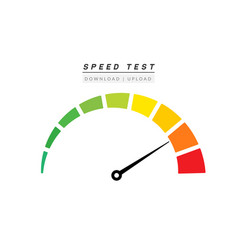 Speed test internet measure speedometer icon fast vector