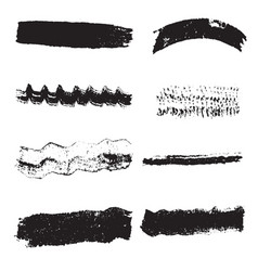 Stroke brush grunge set2 vector