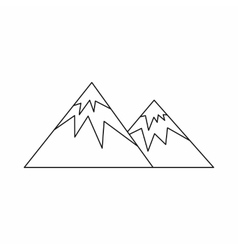 Swiss alps icon outline style vector