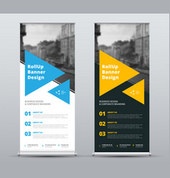 templates of white and black roll-up banners vector image