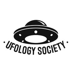 ufology society logo simple style vector image