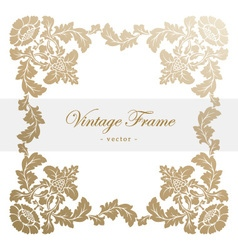 Vintage antique frame with floral ornament vector image