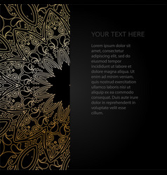 vintage invitation with lace pattern black vector image