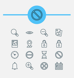 Web icons set collection of calendar pinpoint vector