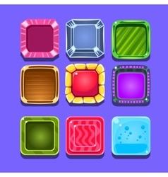 Colorful Gems Flash Game Element Templates Design vector image