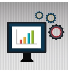 computer business statistics isolated icon design vector image