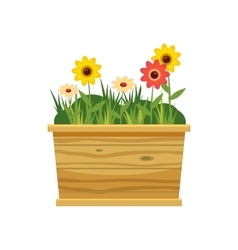 Flower bed icon cartoon style vector image