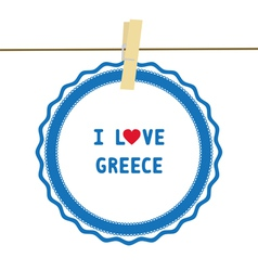 I lOVE GREECE4 vector image vector image