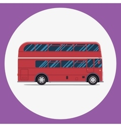 London bus sity transportation Modern flat design vector image vector image