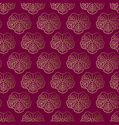 seamless pattern japanise gold ornament vector image