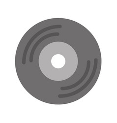 vinyl old music icon vector image